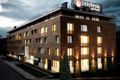 Апартхотел Лъки Банско СПА & Релакс | Фасада на хотела привечер