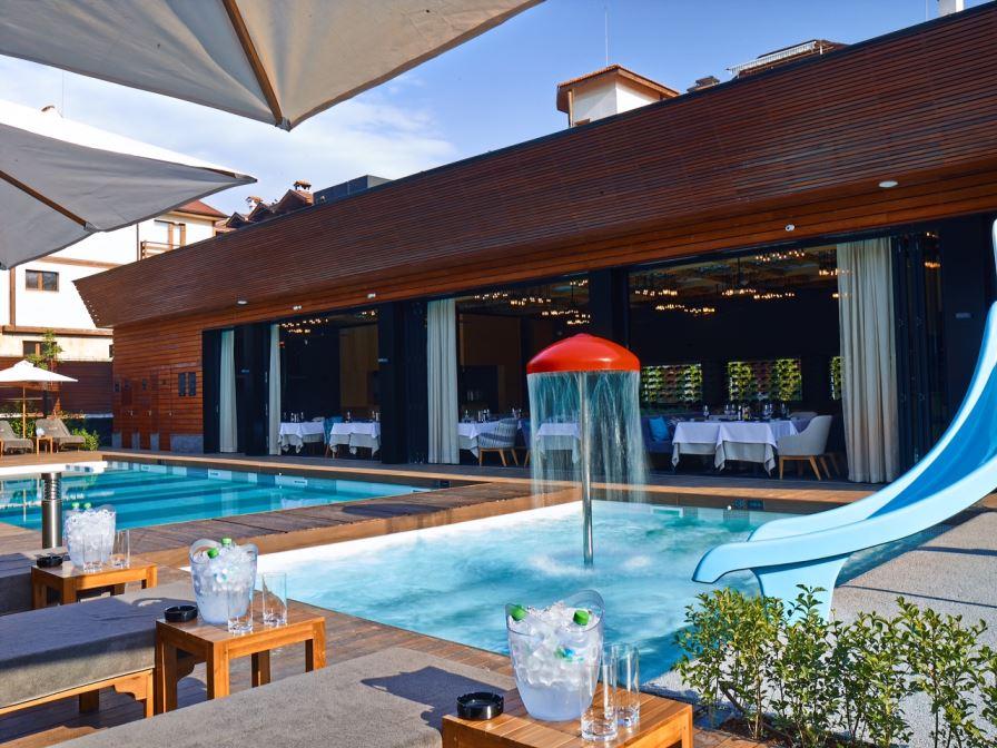 Външен басейн към Аква комплекс | Лъки Банско СПА & Релакс