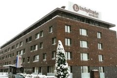 Апартхотел Лъки Банско СПА & Релакс | Фасада през зимата