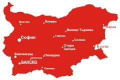 Map of Bansko | Lucky Bansko SPA & Relax