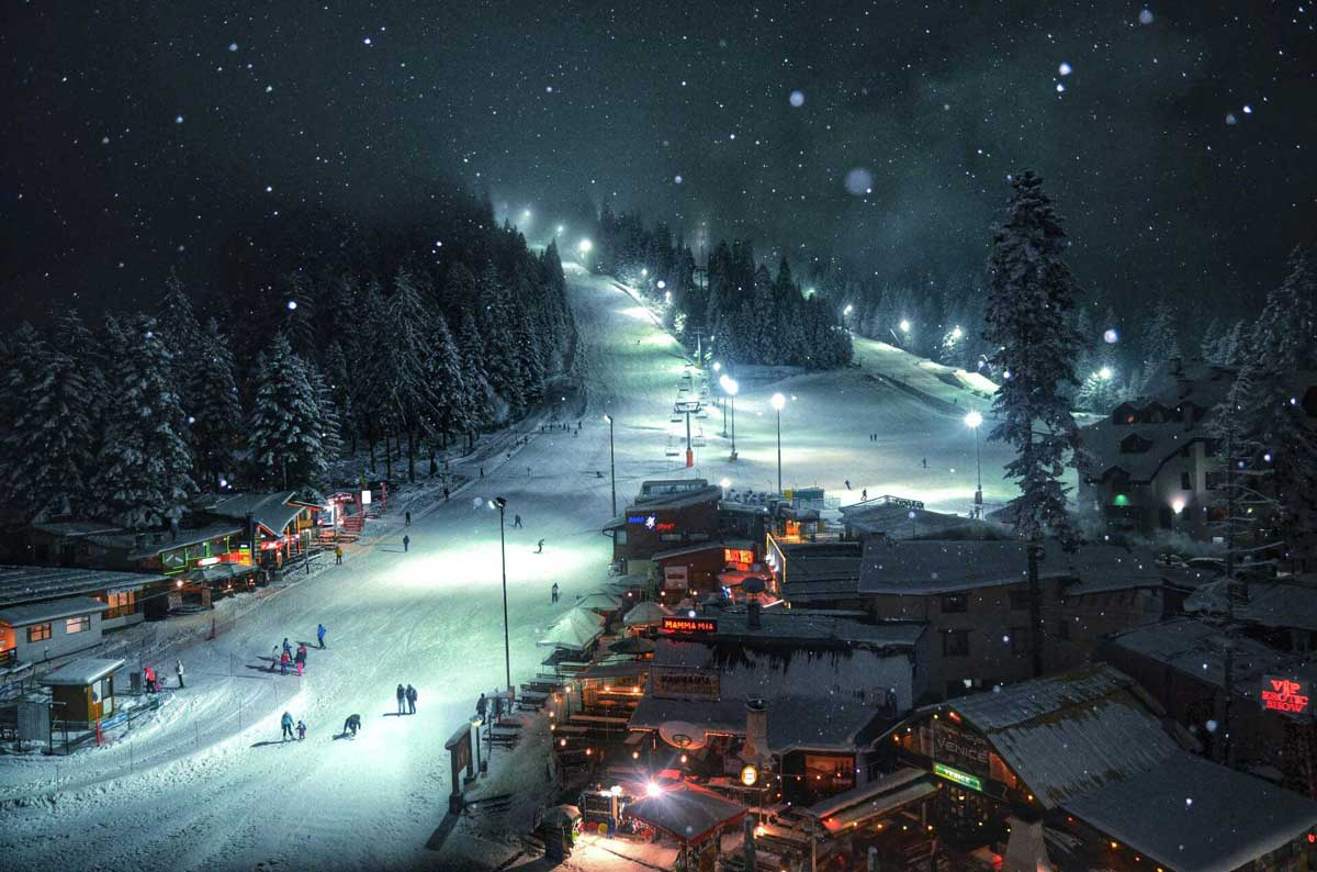 Night ski slopes in Borovets | Lucky Bansko SPA & Relax