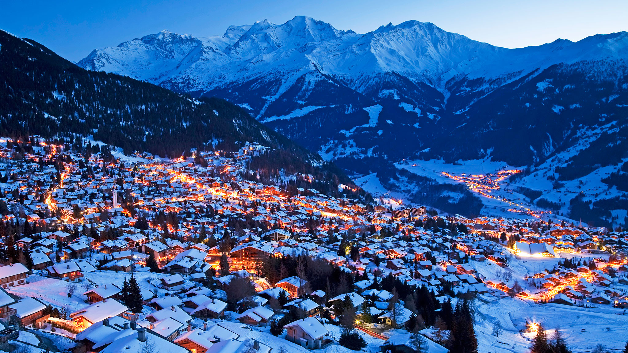 Verbier, Switzerland, beautiful evening | Lucky Bansko SPA & Relax