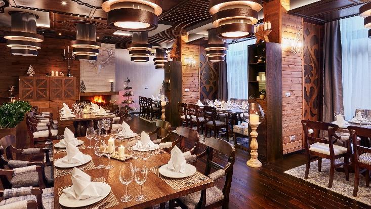 Ресторант Фондю интериор снимка   Lucky Bansko SPA & Relax