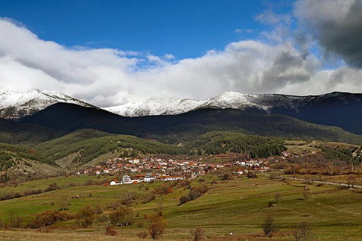 Village of Dobarsko at the foot of the Rila Mountain