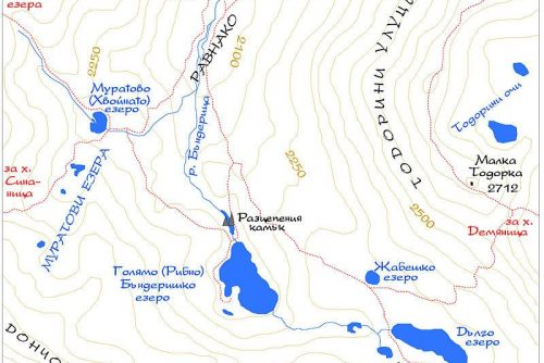 Map of Banderishki Lakes | Lucky Bansko SPA & Relax