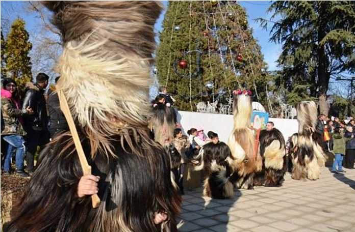 Traditional Kukericarnival in the town of Bansko
