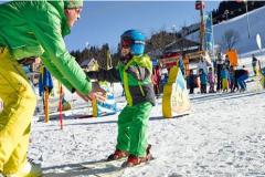 Децата и карането на ски